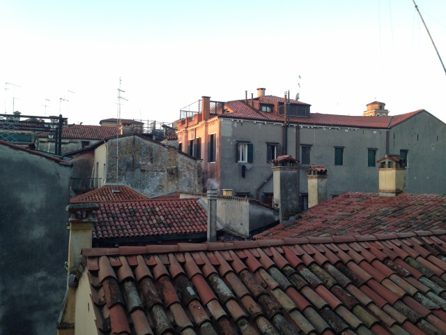 The view from our safe house in Venezia, Italia